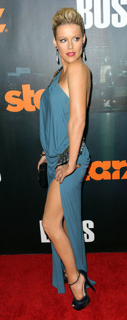 Actress Kathleen Robertson attends the Premiere of Starz'  'Boss' at The Archlight Cinemas