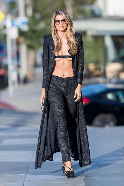 """Model Rachel McCord is seen arriving to the premiere of """"All About the Money"""" on June 02, 2017 in Los Angeles, California. (Photo by Splash News and Pictures)"""