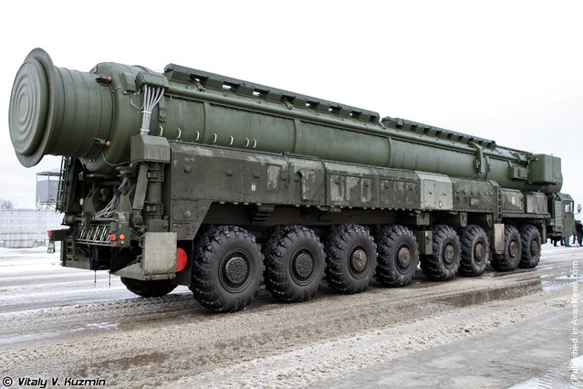 RT-2PM2 Topol-M TEL with presumably Yars system transport-launch container