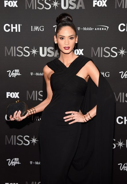 Miss Universe 2015 Pia Wurtzbach attends the 2016 Miss USA pageant at T-Mobile Arena on June 5, 2016 in Las Vegas, Nevada. (Photo by Ethan Miller/Getty Images)