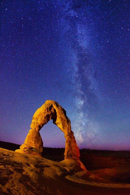 Milky Way over Lake Jackson Lake and Tetons National Park.1