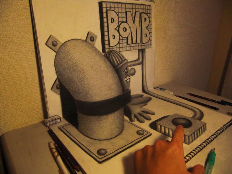 3D Drawings by Nagai Hideyuki