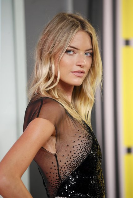 Model Martha Hunt arrives at the 2015 MTV Video Music Awards in Los Angeles, California, August 30, 2015. (Photo by Danny Moloshok/Reuters)
