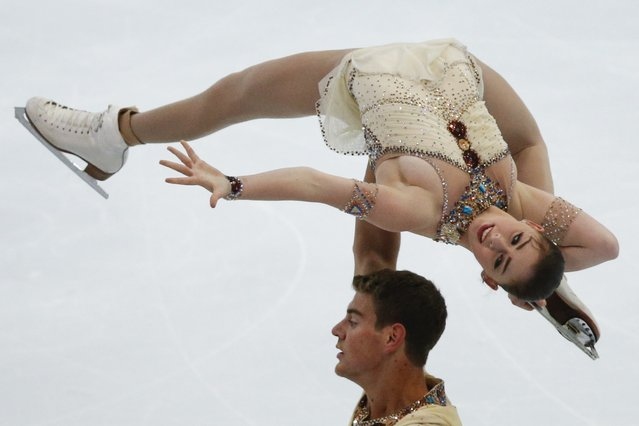 Haven Denney and Brandon Frazier of the U.S. perform during the pairs free skating program at the Rostelecom Cup ISU Grand Prix of Figure Skating in Moscow November 15, 2014. (Photo by Grigory Dukor/Reuters)