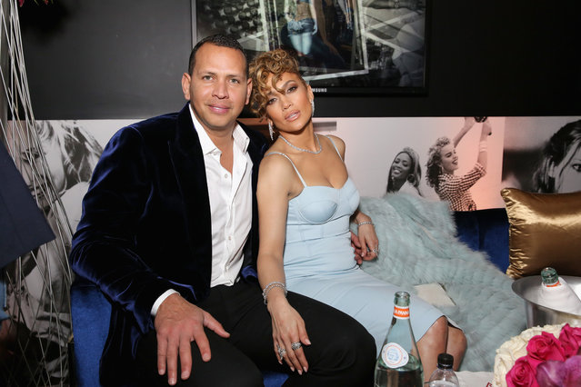 Alex Rodriguez and Jennifer Lopez at the Guess Spring 2018 Campaign Reveal starring Jennifer Lopez on January 31, 2018 in Los Angeles, California. (Photo by Rachel Murray/Getty Images for Guess, Inc.)
