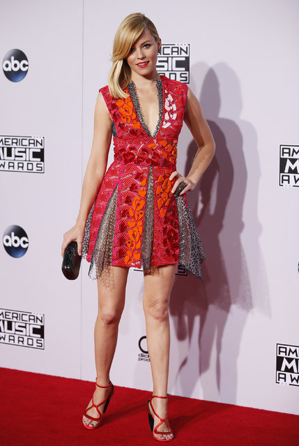 Actress Elizabeth Banks arrives at the 42nd American Music Awards in Los Angeles. (Photo by Danny Moloshok/Reuters)