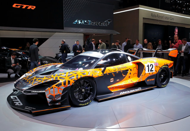 McLaren Senna GTR is presented during the press day at the 88th Geneva International Motor Show in Geneva, Switzerland on Tuesday, March 6, 2018. (Photo by Denis Balibouse/Reuters)