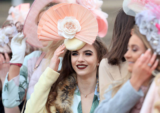 Racegoers during Ladies Day of the 2018 Cheltenham Festival at Cheltenham Racecourse in Cheltenham, England on March 14, 2018. (Photo by Mike Egerton/PA Images via Getty Images)