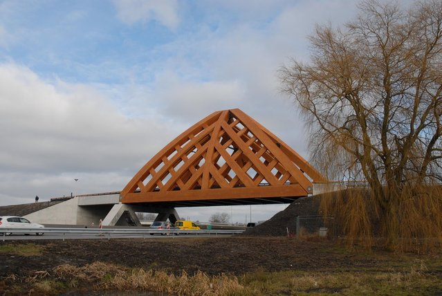 Wood Bridge In Netherlands