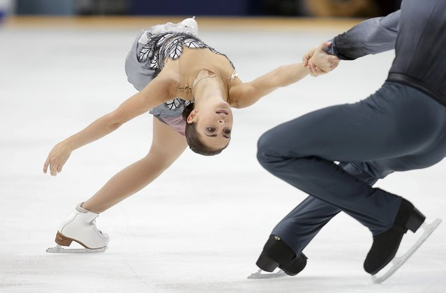 Figure Skating, ISU Grand Prix Rostelecom Cup 2016/2017, Pairs Free Skating in Moscow, Russia on November 5, 2016. Natalia Zabiiako and Alexander Enbert of Russia compete. (Photo by Maxim Shemetov/Reuters)