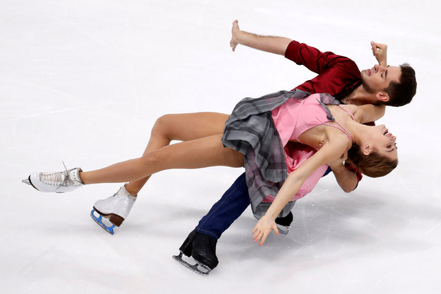 Figure Skating, ISU Grand Prix of Figure Skating Trophee de France 2016/2017, Ice Dance Short Dance, Paris, France on November 11, 2016. Alexandra Nazarova and Maxim Nikitin of Ukraine compete. (Photo by Charles Platiau/Reuters)