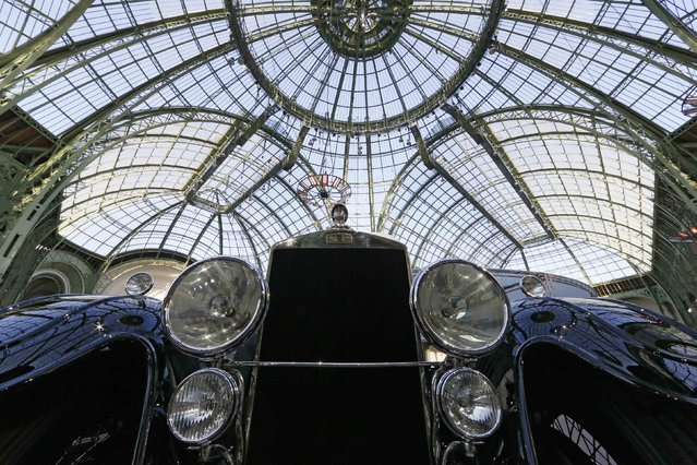 The 1927 Automobiles Excelsior Albert 1er Chassis Court Cabriolet is displayed ahead of the Bonhams' Les Grandes Marques du Monde vintage motor cars and motorcycles auction at the Grand Palais exhibition hall as part of the Retromobile vintage car show in Paris February 4, 2015. (Photo by Gonzalo Fuentes/Reuters)