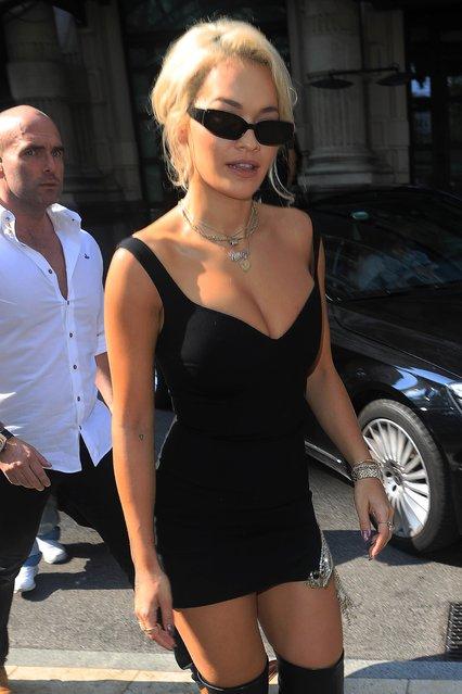 Rita Ora is seen during Milan Fashion Week Spring/Summer 2019 on September 21, 2018 in Milan, Italy. (Photo by Robino Salvatore/GC Images)