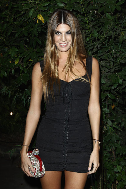 """Bianca Brandolini  attends the """"Mademoiselle C"""" cocktail party at Pavillon Ledoyen on October 1, 2013 in Paris, France. (Photo by Julien M. Hekimian/Getty Images)"""