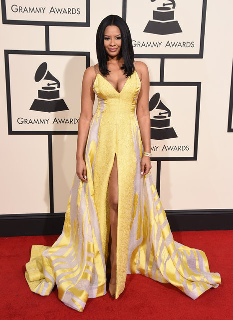 Vanessa Simmons arrives at the 58th annual Grammy Awards at the Staples Center on Monday, February 15, 2016, in Los Angeles. (Photo by Jordan Strauss/Invision/AP Photo)