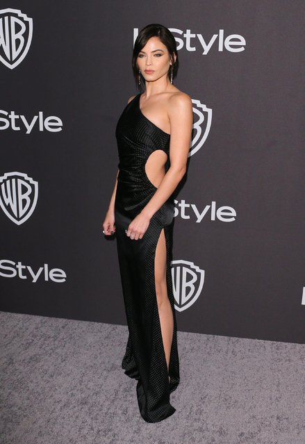 US actress Jenna Dewan arrives for the Warner Bros. and In Style 20th annual post Golden Globes party at the Oasis Courtyard of the Beverly Hilton hotel in Beverly Hills on January 6, 2019. (Photo by Jean-Baptiste Lacroix/AFP Photo)