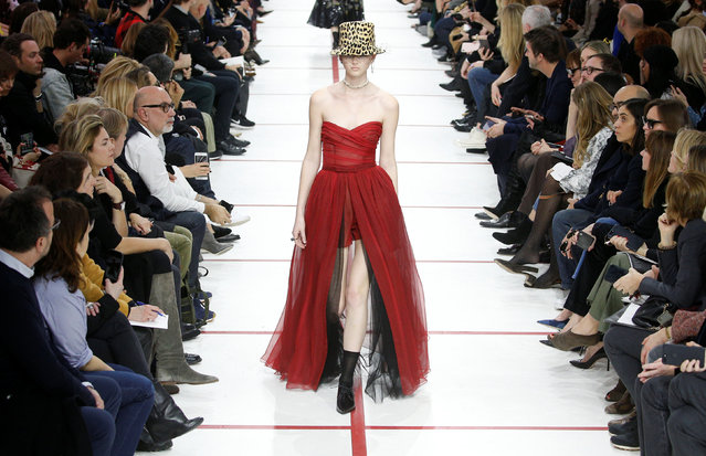 A model presents a creation by designer Maria Grazia Chiuri as part of her Fall/Winter 2019-2020 women's ready-to-wear collection show for fashion house Dior during Paris Fashion Week in Paris, France, February 26, 2019. (Photo by Stephane Mahe/Reuters)