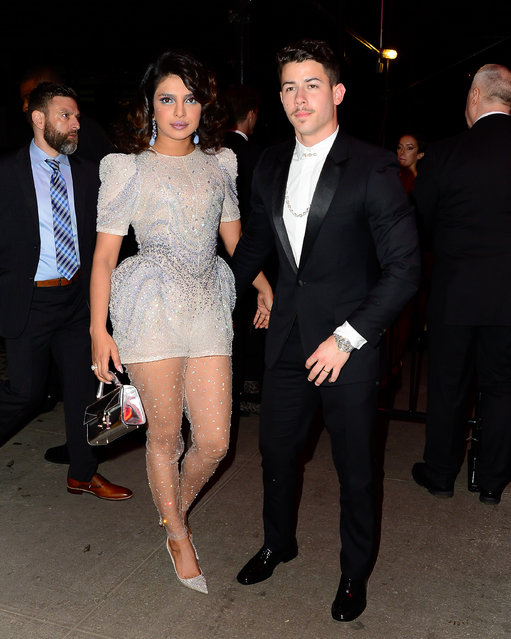 Nick Jonas and Priyanka Chopra Jonas at the Met Gala Afterparty Standard Hotel on May 7, 2019. (Photo by North Woods/Splash News and Pictures)