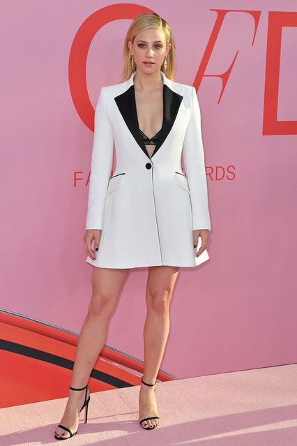 US actress Lili Reinhart arrives for the 2019 CFDA fashion awards at the Brooklyn Museum in New York City on June 3, 2019. (Photo by Angela Weiss/AFP Photo)