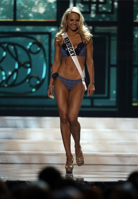 Miss Kentucky, Katie George, competes in the bathing suit competition during the preliminary round of the 2015 Miss USA Pageant in Baton Rouge, La., Wednesday, July 8, 2015. (Photo by Gerald Herbert/AP Photo)