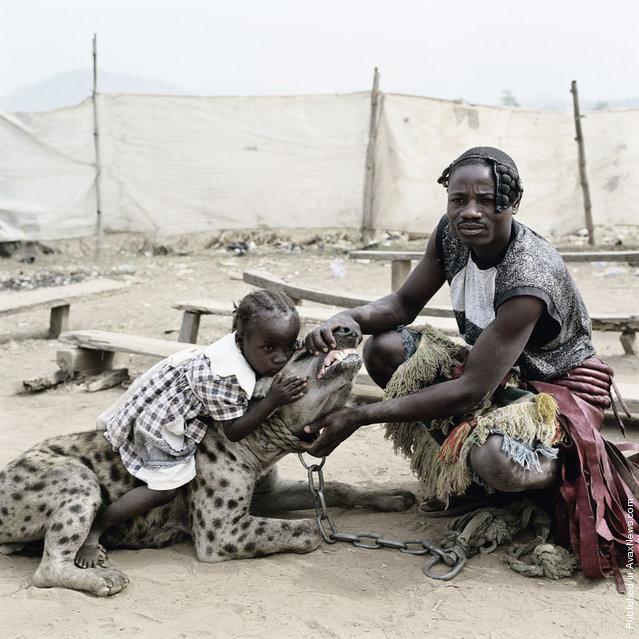 Mummy Ahmadu and Mallam Mantari Lamal with Mainasara, Abuja, Nigeria 2005