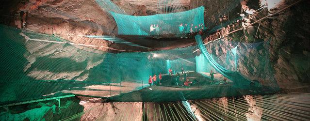 Bounce Below The World's First Subterranean Playground
