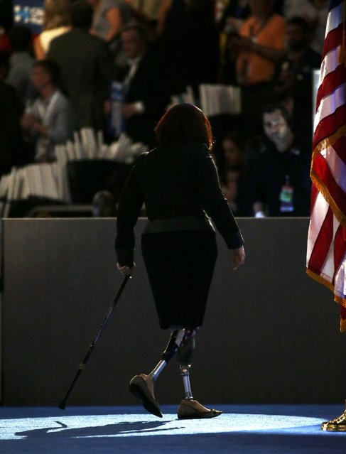 Representative Tammy Duckworth (D-IL) leaves the stage at the Democratic National Convention in Philadelphia, Pennsylvania, U.S. July 28, 2016. (Photo by Gary Cameron/Reuters)