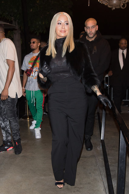 Amber Rose is seen making her return to Ace Of Diamonds in West Hollywood on November 28, 2017. (Photo by Mr.Canon/Splash News and Pictures)
