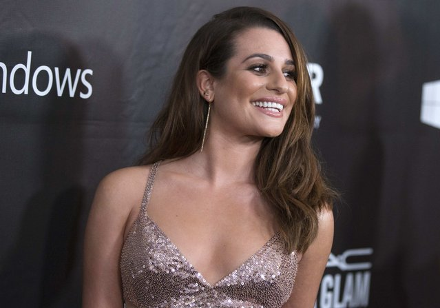 Actress Lea Michele poses at the amfAR's Fifth Annual Inspiration Gala in Los Angeles, California October 29, 2014. (Photo by Mario Anzuoni/Reuters)