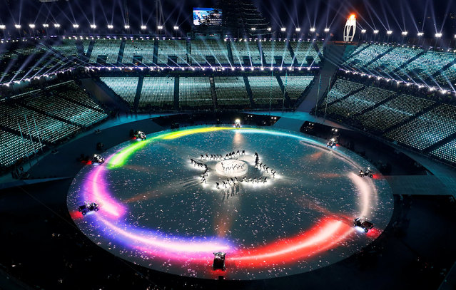 A general view during the closing ceremony of the PyeongChang Winter Olympic Games at the Olympic Stadium in Pyeongchang, South Korea, on February 25, 2018. (Photo by Pawel Kopczynski/Reuters)