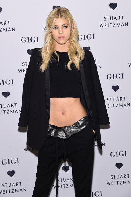 Devon Windsor attends Stuart Weitzman's Launch Of The Gigi Boot on October 26, 2016 in New York City. (Photo by Jamie McCarthy/Getty Images for Stuart Weitzman)