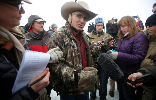 Arizona cattle rancher LaVoy Finicum talks to the media at the Malheur National Wildlife Refuge near Burns, Oregon, U.S. January 5, 2016. (Photo by Jim Urquhart/Reuters)