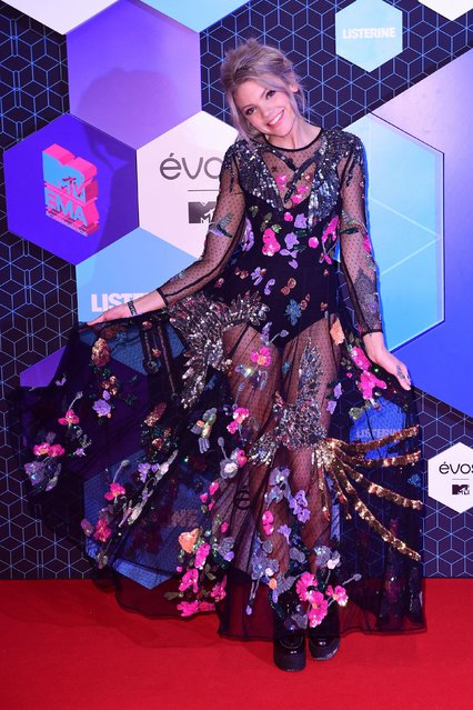 MTV Presenter Becca Dudley poses for photographers upon arrival at the MTV European Music Awards 2016 in Rotterdam, Netherlands, Sunday, November 6, 2016. (Photo by PA Wire)