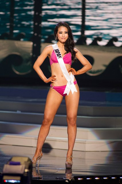 Keiko Tsuji, Miss Japan 2014, competes in the swimwear competition during the Miss Universe Preliminary Show in Miami, Florida in this January 21, 2015 handout photo. (Photo by Reuters/Miss Universe Organization)