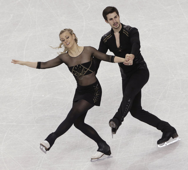Madison Hubbell and Zachary Donohue perform during their free dance program at the U.S. Figure Skating Championships in Greensboro, N.C., Saturday, January 24, 2015. (Photo by Chuck Burton/AP Photo)