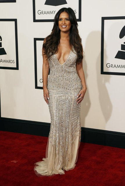 TV personality Rocsi Diaz arrives at the 57th annual Grammy Awards in Los Angeles, California February 8, 2015. (Photo by Mario Anzuoni/Reuters)