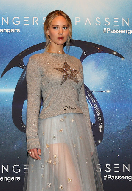"American actress Jennifer Lawrence poses during a photocall for the film ""Passengers"" in Paris, France, November 29, 2016. (Photo by Jacky Naegelen/Reuters)"