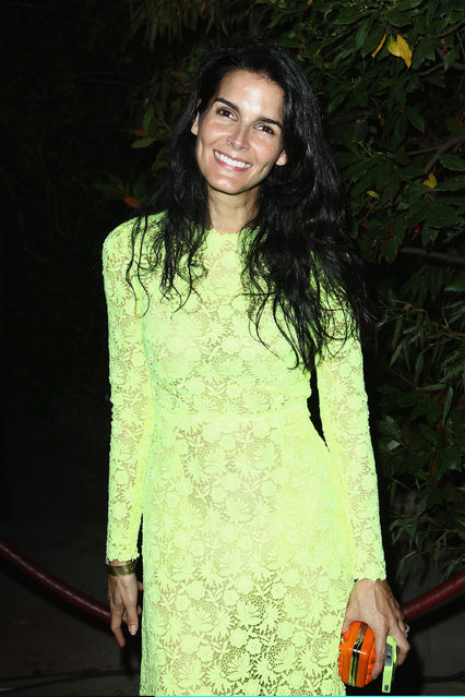 """Angie Harmon attends the """"Mademoiselle C"""" cocktail party at Pavillon Ledoyen on October 1, 2013 in Paris, France. (Photo by Julien M. Hekimian/Getty Images)"""