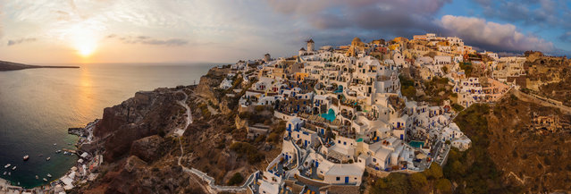 Santorini, Greece. (Photo by Airpano/Caters News)