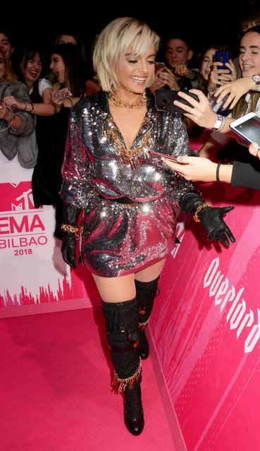 Bebe Rexha attends the MTV EMAs 2018 at the Bilbao Exhibition Centre (BEC) on November 04, 2018 in Bilbao, Spain. (Photo by Dave J Hogan/Dave J. Hogan/Getty Images for MTV)