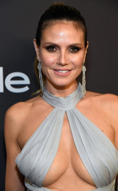 Heidi Klum attends the 2019 InStyle and Warner Bros. 76th Annual Golden Globe Awards Post-Party at The Beverly Hilton Hotel on January 6, 2019 in Beverly Hills, California. (Photo by Kevin Mazur/Getty Images for InStyle)