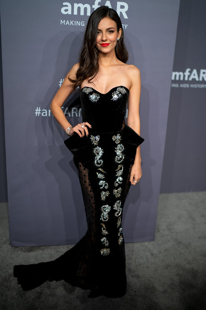 Victoria Justice attends the 2019 amfAR New York Gala at Cipriani Wall Street on February 06, 2019 in New York City. (Photo by Michael Stewart/FilmMagic)