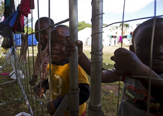 Foreign children play at a camp set up to house those affected by anti-immigrant violence in Chatsworth north of Durban, April 17, 2015. (Photo by Rogan Ward/Reuters)