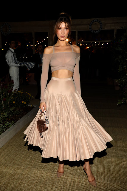 Bella Hadid arrives at a Dior dinner party during the 72nd annual Cannes Film Festival at  on May 15, 2019 in Cannes, France. (Photo by Pierre Suu/GC Images)