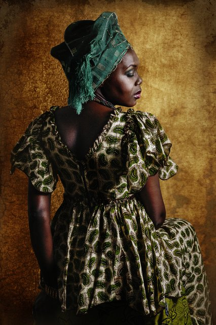 Fon. Each photo shows a different style of tribal dress – like this from the Fon people of west Africa. (Photo by Joana Choumali/The Guardian)