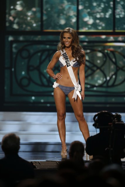 Miss Georgia, Brooke Fletcher, competes in the bathing suit competition during the preliminary round of the 2015 Miss USA Pageant in Baton Rouge, La., Wednesday, July 8, 2015. (Photo by Gerald Herbert/AP Photo)