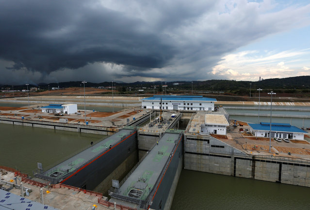 A view of the Panama Canal expansion project on the Pacific side of the Panama Canal during an organized media tour by Italy's Salini Impregilo, one of the main sub contractors of the Panama Canal Expansion project, in Panama City May 11, 2016. (Photo by Carlos Jasso/Reuters)