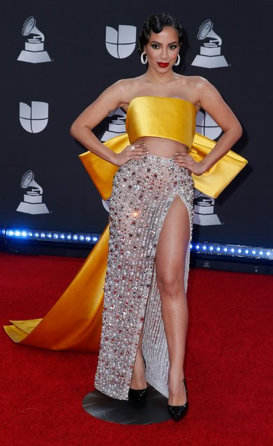 Anitta attends the 20th annual Latin GRAMMY Awards at MGM Grand Garden Arena on November 14, 2019 in Las Vegas, Nevada. (Photo by Danny Moloshok/Reuters)