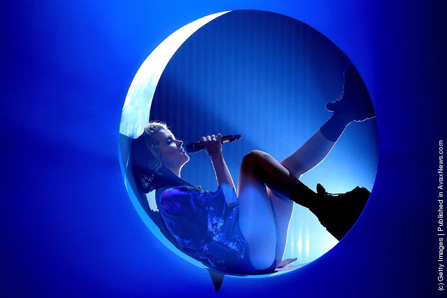 Tove Styrke performs at 'The Dome 61' at the Rhein-Main-Theaterat