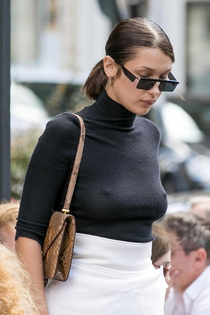 Model Bella Hadid is seen on June 9, 2017 in Paris, France. (Photo by Marc Piasecki/GC Images)